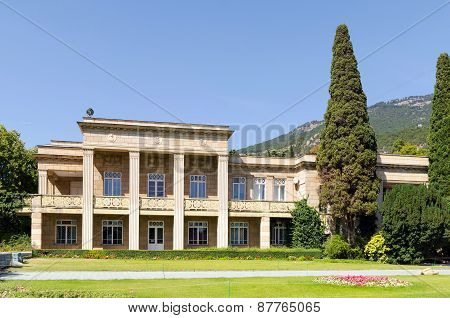 The Administrative Building Of The Nikitsky Botanical Gardens. Crimea, Yalta.
