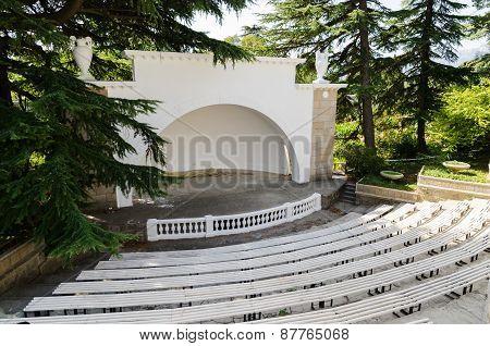 Summer Theater. Nikitsky Botanical Garden. Crimea, Yalta.