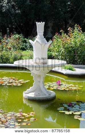 Fountain. Nikita Botanical Garden. Crimea, Yalta.