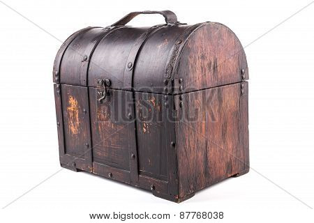 Isolated Wood Chest