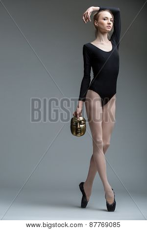 Portrait of the young graceful ballerina