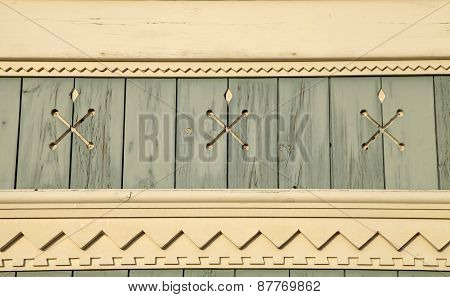 Old Wooden Painted Blue Background