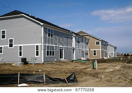 New Suburban Tract Homes in Plainfield, Illinois