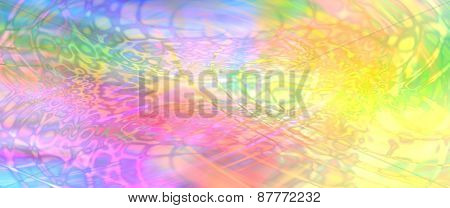 Colorful psychedelic website banner