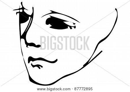 Sketch Portrait Of An Adult