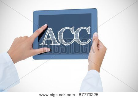 The word acc against doctor using tablet pc