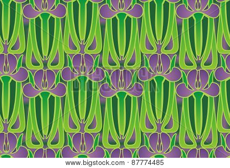 art deco iris design