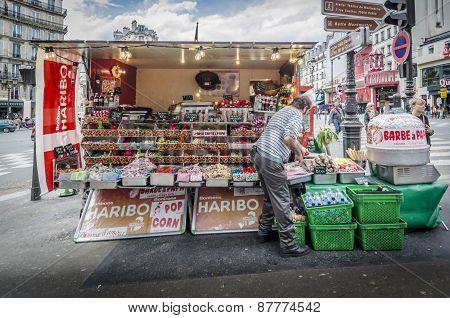 Street Vendor Selling Sweets