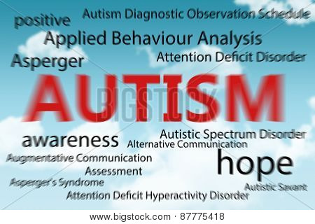 autism against blue sky