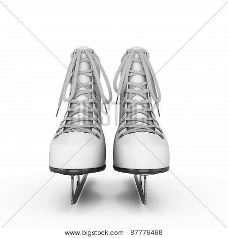Figure Skates Front View