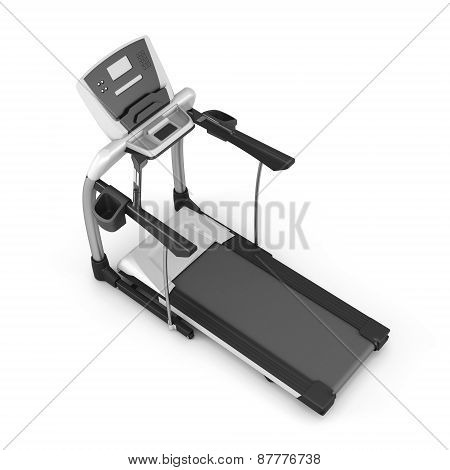 Trainer Treadmill On A White