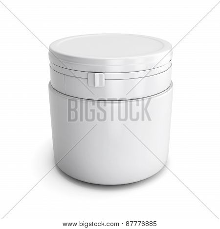 Template For Design Of A White Plastic Can With Product