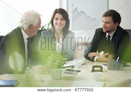 Young Boss With Employees