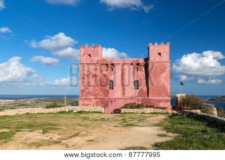 Saint Agatha's Tower also known as The Red tower. It was one of the defensive battlements of Malta.