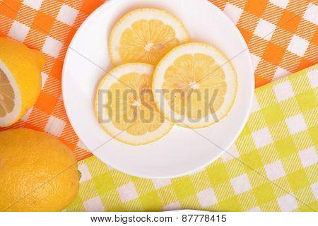 Juicy Ripe Lemons Close Up