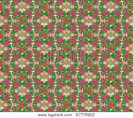 Victorian rose wallpaper