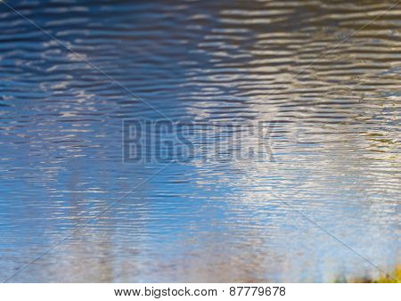 Rippled Water Surface. Nature Abstract