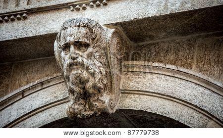 bearded statue