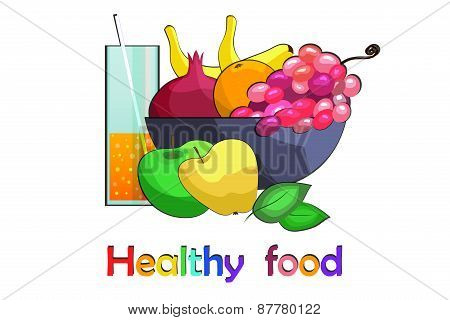 Fruit vase with fresh juice