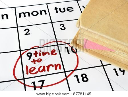 Calendar with time to learn