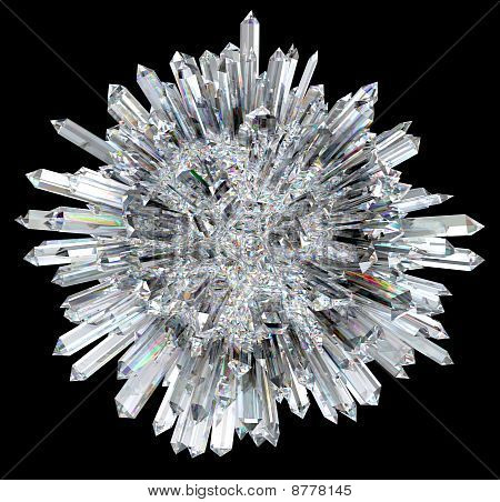Crystal Sphere With Acute Columns
