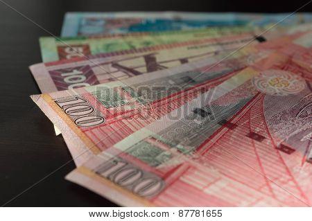 Some Banknotes Of Hong Kong Dollars