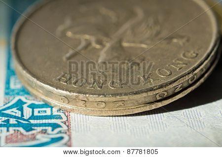 Hong Kong Dollars Close Up