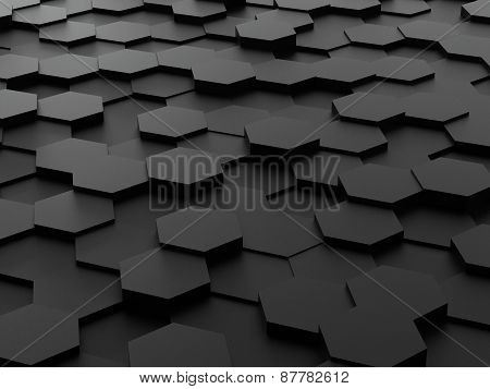 background of 3d hexagon blocks