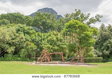 Childrens Playground In The Kirstenbosch Botanical Gardens