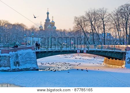Saint-Petersburg. Russia. The First Engineer Bridge