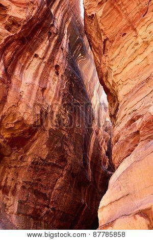 Siq Gorge In Petra, Jordan