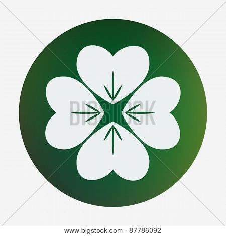 Four leaf clover. Vector illustration.