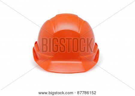 Orange Helmet Work On A White Background