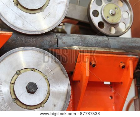 Element Of The Production Line With The Inductor