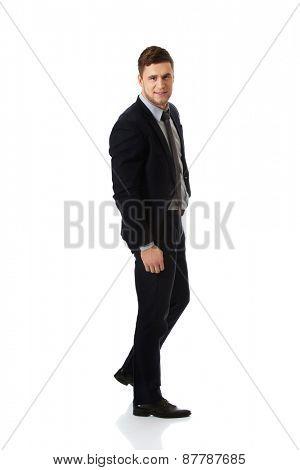 Successful confident businessman in formalwear.
