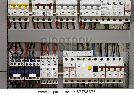 Control Panel With Static Energy Meters And Circuit-breakers - Fuse