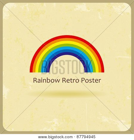 Abstract retro rainbow background. Vector illustration