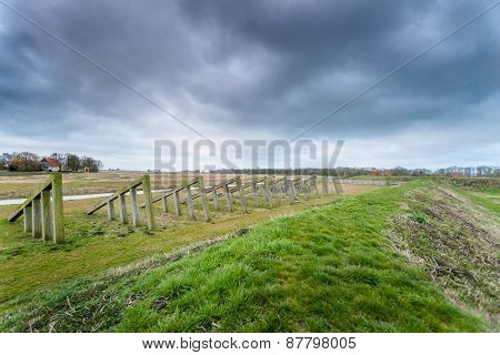 Storm Clouds Over The Old Port Of Schokland, Netherlands