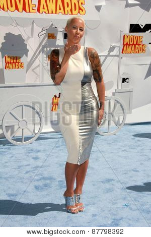 LOS ANGELES - FEB 11:  Amber Rose at the MTV Movie Awards 2015 at the Nokia Theater on April 11, 2015 in Los Angeles, CA