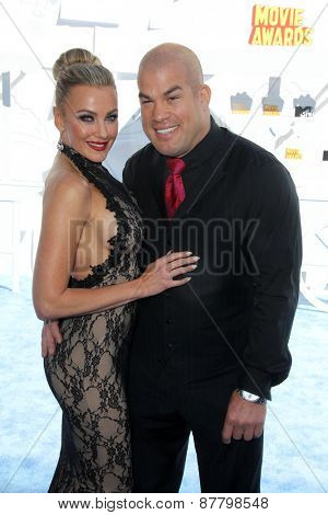 LOS ANGELES - FEB 11:  Amber Nichole Miller, Tito Ortiz at the MTV Movie Awards 2015 at the Nokia Theater on April 11, 2015 in Los Angeles, CA