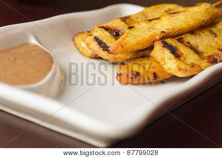 Chicken Satay Spicy Peanut Sauce