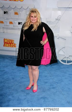 LOS ANGELES - FEB 11:  Rebel Wilson at the MTV Movie Awards 2015 at the Nokia Theater on April 11, 2015 in Los Angeles, CA