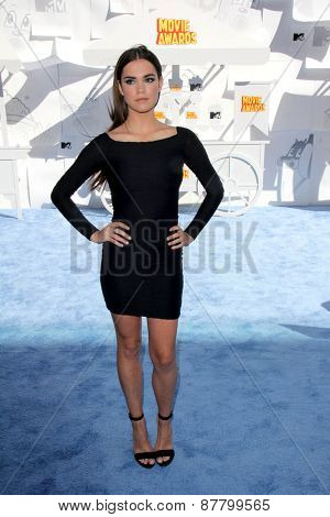 LOS ANGELES - FEB 11:  Maia Mitchell at the MTV Movie Awards 2015 at the Nokia Theater on April 11, 2015 in Los Angeles, CA