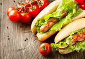 foto of hot dogs  - Hot dog - JPG