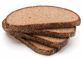 stock photo of fresh slice bread  - Slice of fresh rye bread isolated on white background cutout - JPG