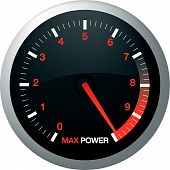 foto of speedo  - Speedo or speed dial for car or power - JPG