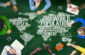 image of population  - World Population Global People Community International Concept - JPG