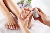 picture of wet feet  - Foot care treatment and nail - JPG