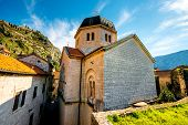 stock photo of nicholas  - St. Nicholas church in Kotor old city, Montenegro ** Note: Visible grain at 100%, best at smaller sizes - JPG