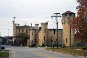 stock photo of illinois  - An autumnal view of the old Illinois State Penitentiary in Joliet - JPG